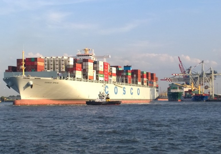 Set Chinese shipping group COSCO container shipping head